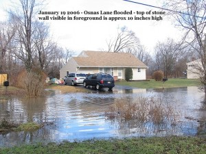 Osnas Lane Flooding January 19 2006